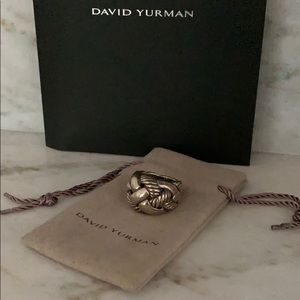 Authentic David Yurman Knot Ring size 7 Silver